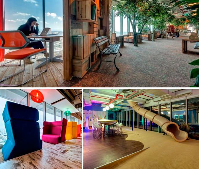 Google Tel Aviv: interiorismo agradable