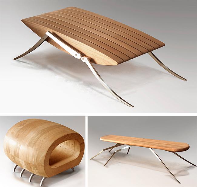 muebles diferentes inspirados en insectos kupu muebles
