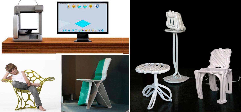 Impresoras 3d y los muebles de dise o k pu muebles for Diseno de muebles 3d