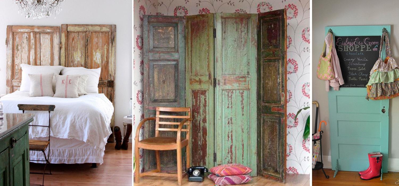 De puerta a muebles reciclados con encanto kupu muebles for Puertas antiguas para decoracion